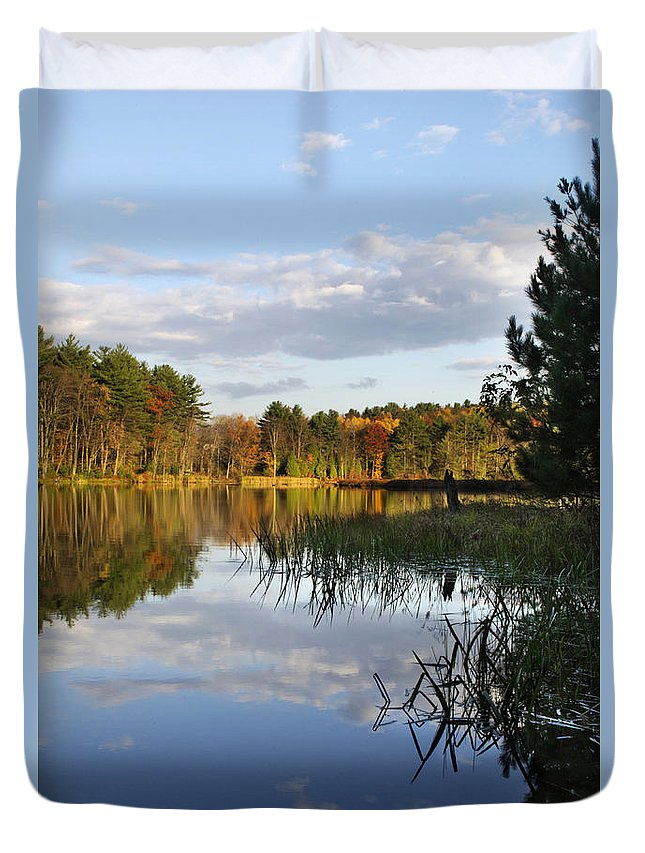 Tranquil Duvet Cover featuring the photograph Tranquil Autumn Landscape by Christina Rollo