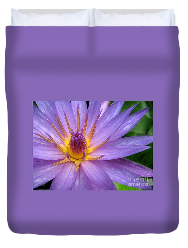 Lily Duvet Cover featuring the photograph Tranquil Thoughts by C Ray Roth