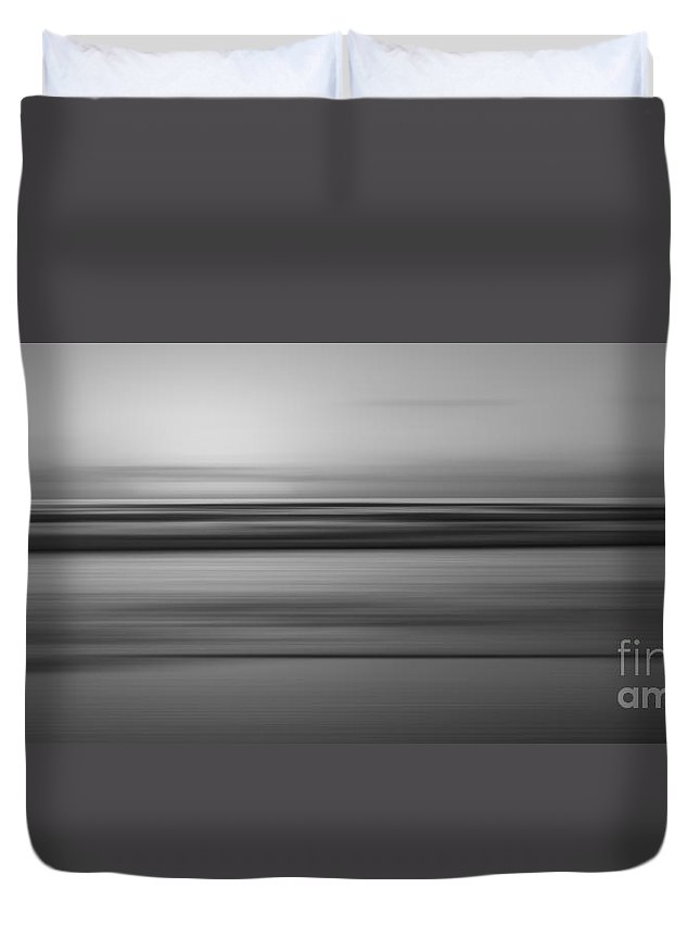 At Peace Duvet Cover featuring the photograph Tranquility 2 Bw by Michael Ver Sprill