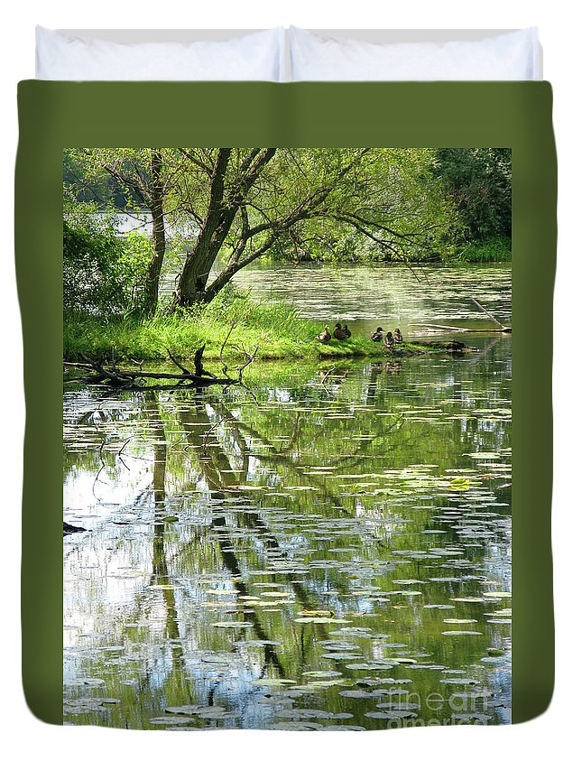 Reflection Duvet Cover featuring the photograph Tranquility by Ann Horn