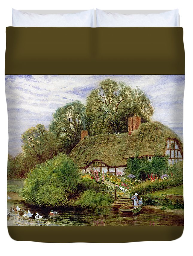 Tranquility Duvet Cover featuring the painting Tranquility by Arthur Claude Strachan