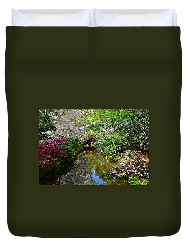 Garden Duvet Cover featuring the photograph Tranquility Garden by Denise Mazzocco