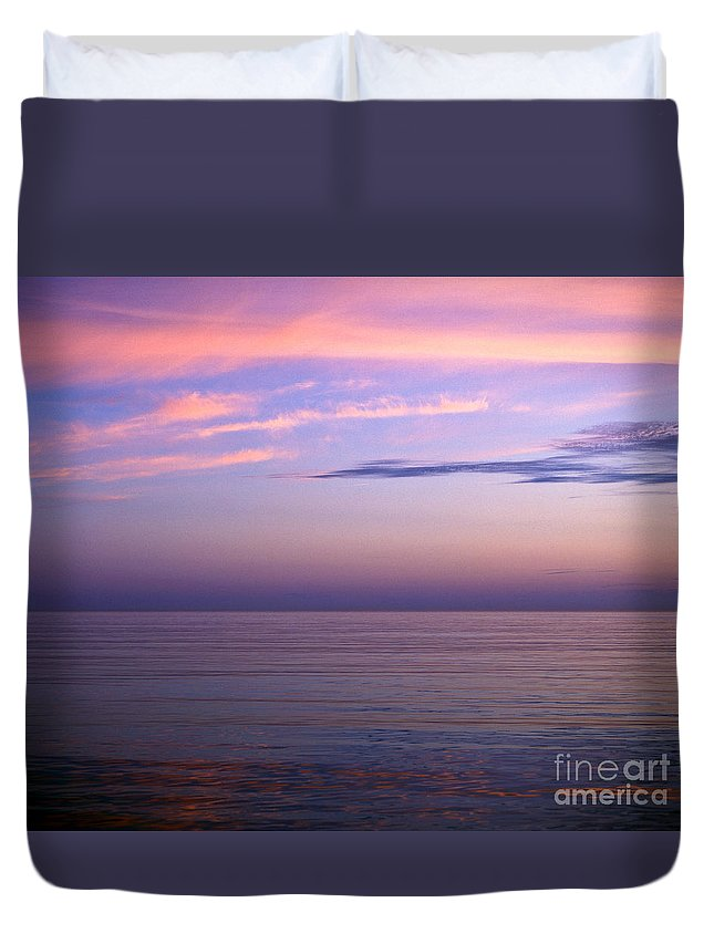 Dorset Duvet Cover featuring the photograph Tranquility by Lana Enderle