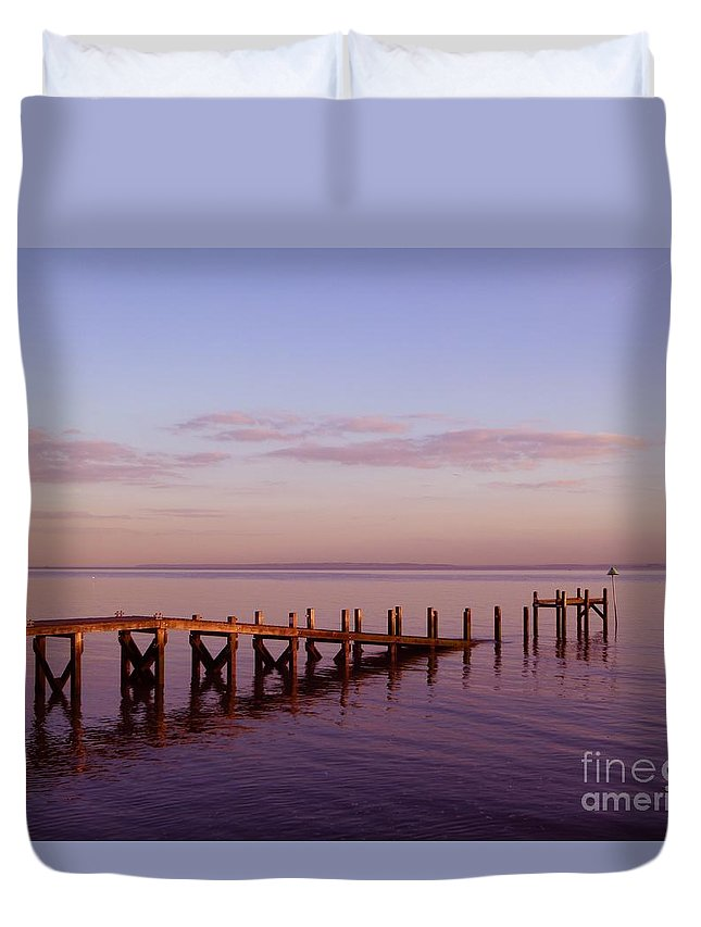 Tranquility Duvet Cover featuring the photograph Tranquility by Vicki Spindler