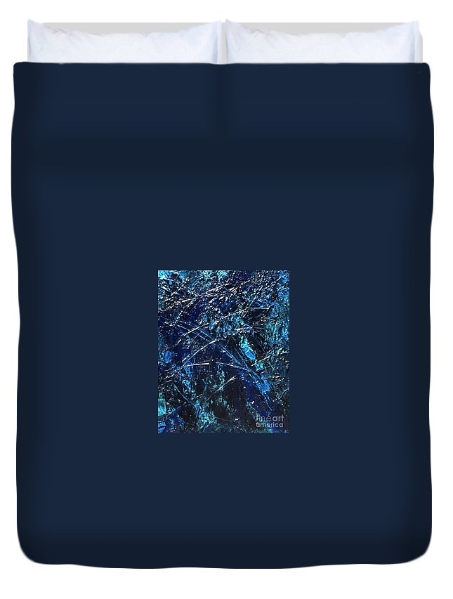 Abstract Duvet Cover featuring the painting Transitions I by Dean Triolo