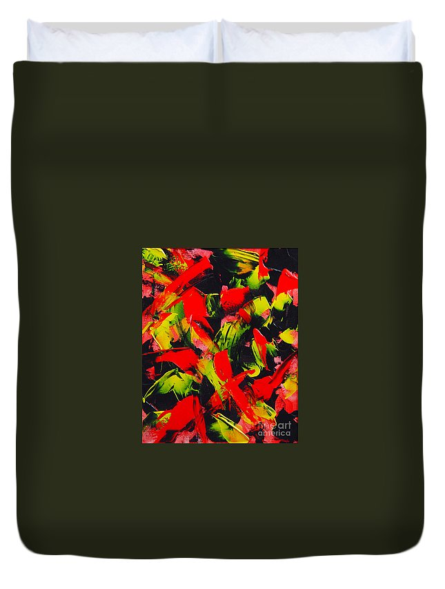 Abstract Duvet Cover featuring the painting Transitions IIi by Dean Triolo