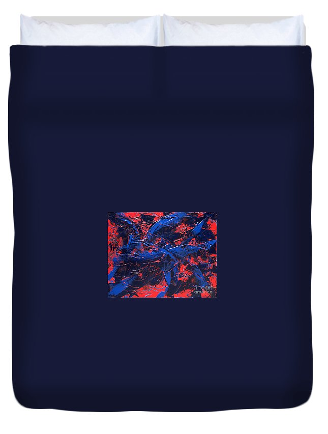 Abstract Duvet Cover featuring the painting Transitions Iv by Dean Triolo