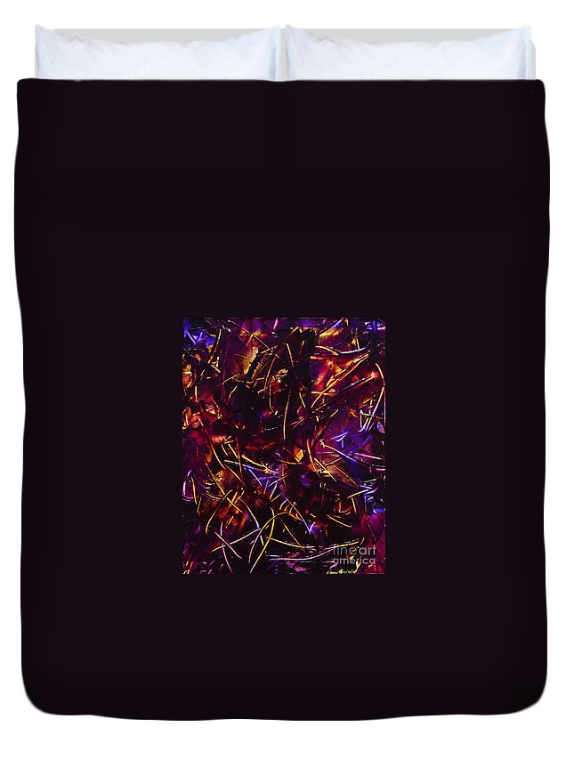 Abstract Duvet Cover featuring the painting Transitions X by Dean Triolo