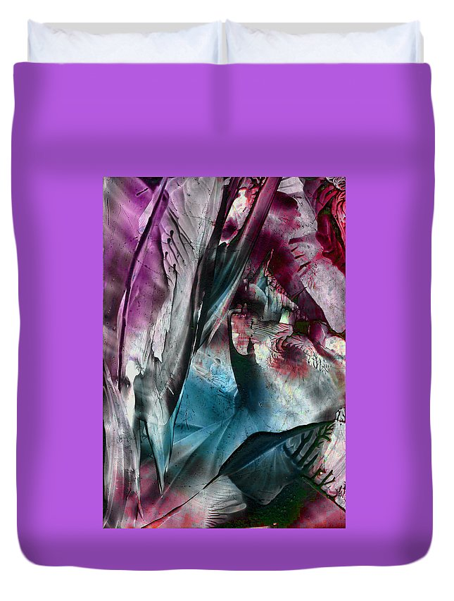 Wax Duvet Cover featuring the painting Transmigration by Cristina Handrabur