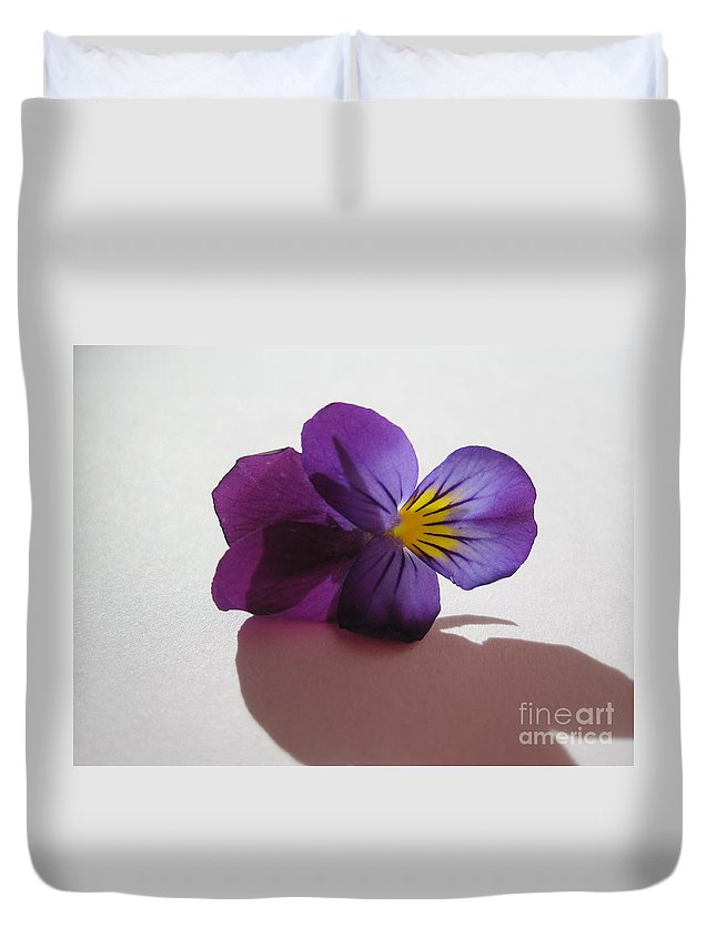 Floral Duvet Cover featuring the photograph Transparency 2 by Tara Shalton