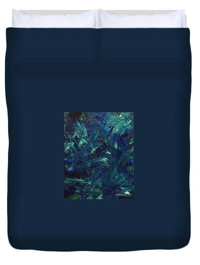 Abstract Duvet Cover featuring the painting Transtions Xi by Dean Triolo