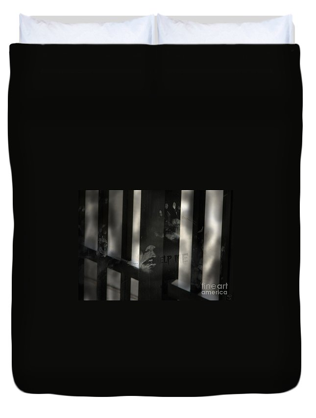 Help Duvet Cover featuring the photograph Trapped by Stacey May