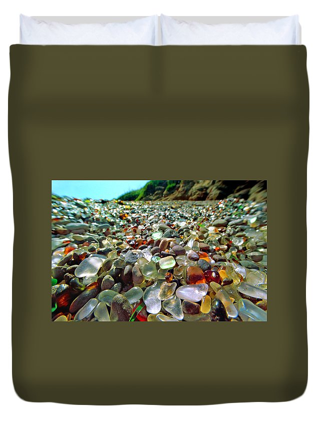 Film Duvet Cover featuring the photograph Treasure Beach by Daniel Furon