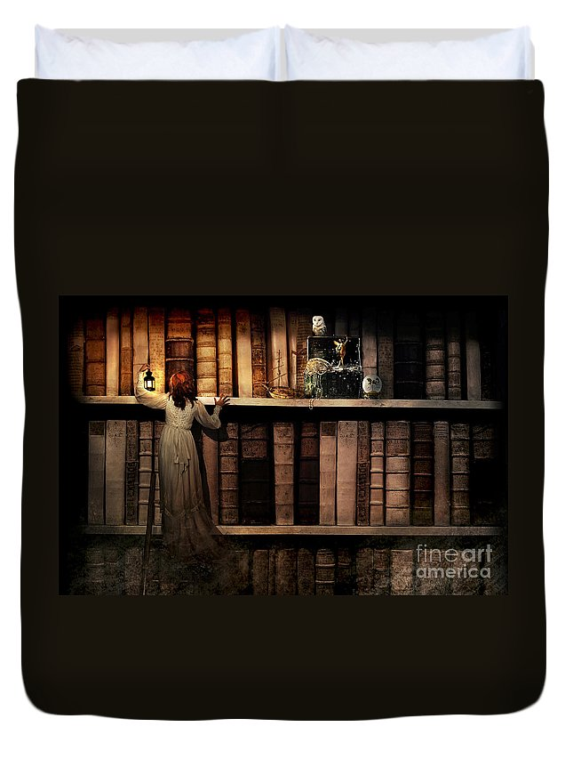 Adult Duvet Cover featuring the digital art Treasure Hunt by MGL Meiklejohn Graphics Licensing