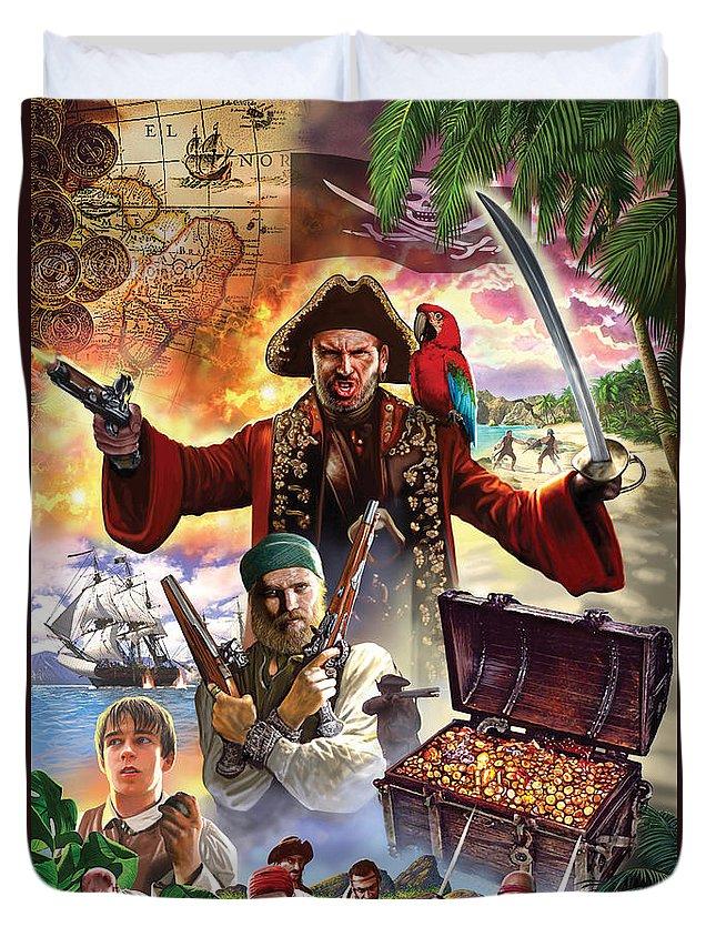 Steve Crisp Duvet Cover featuring the photograph Treasure Island by Steve Crisp