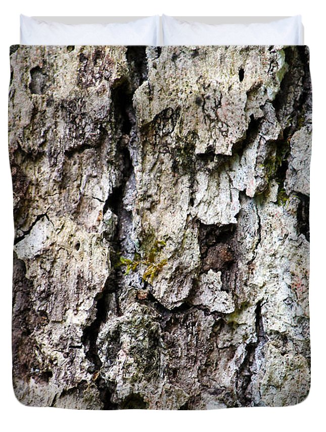 Fine Art Photography Duvet Cover featuring the photograph Tree Bark by Ulli Karner