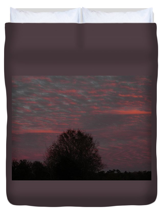 Tree Of Life Duvet Cover featuring the photograph Tree Of Life Under A Colorful Sky by George Pedro
