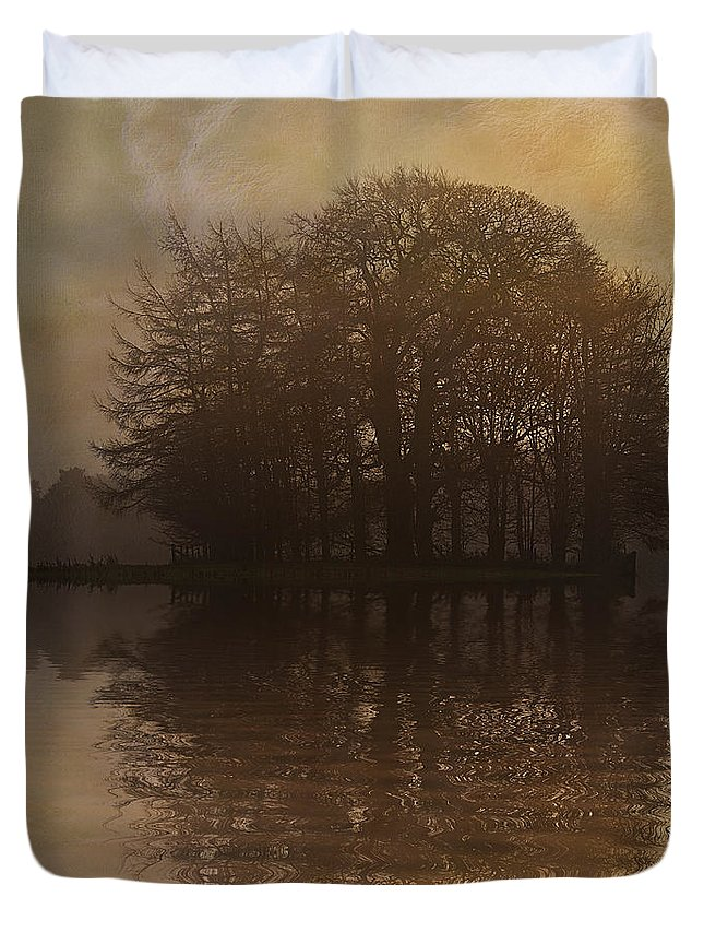 Tree Duvet Cover featuring the photograph Tree Reflections II by David Pringle