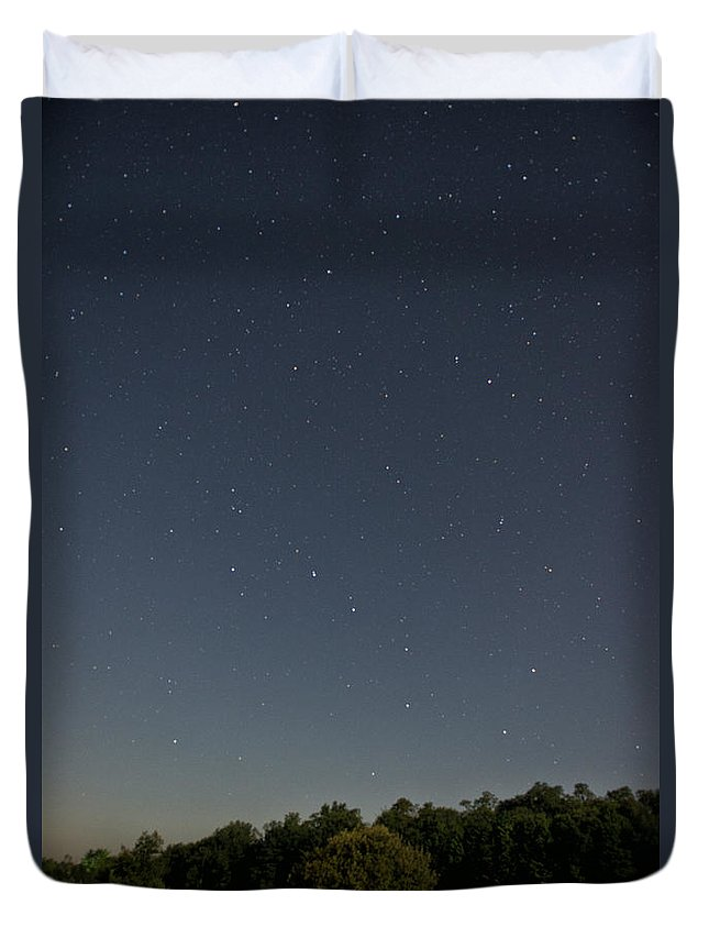 North America Duvet Cover featuring the photograph Tree Star by Brandon Hirt