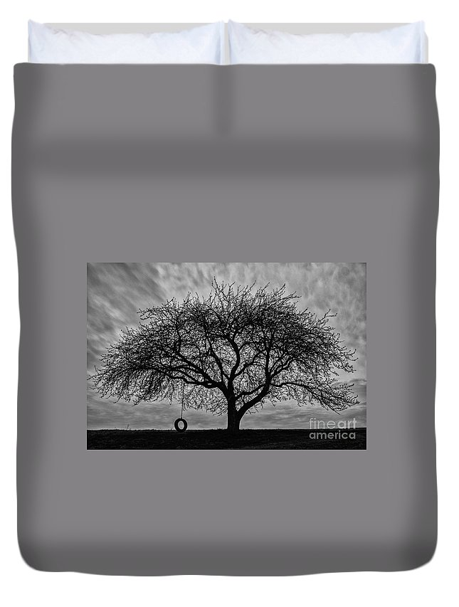 Tree Duvet Cover featuring the photograph Tree Swing by Brandon Hirt