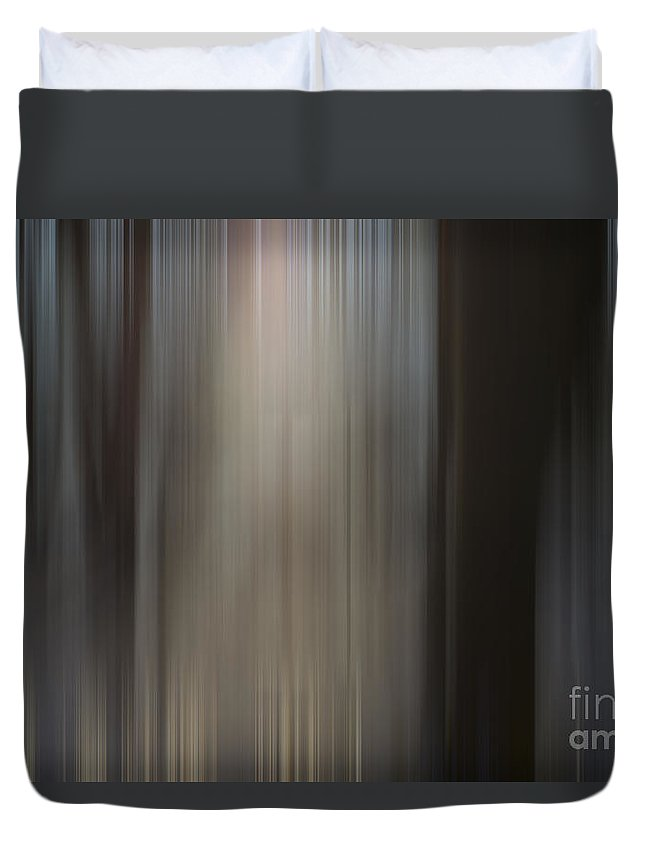 Trees Duvet Cover featuring the photograph Trees With Sun by Mats Silvan