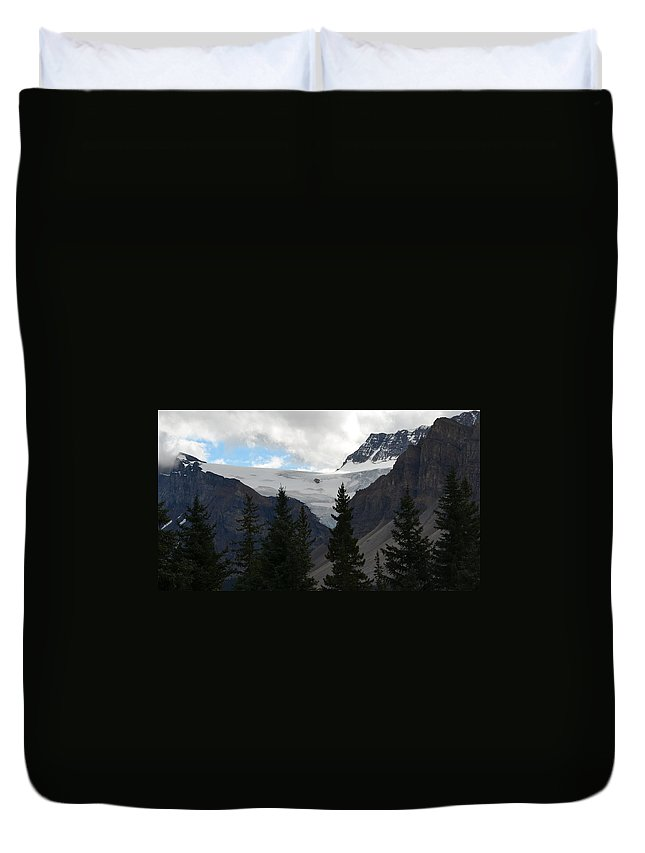Canada Duvet Cover featuring the photograph Treescape In Canada by Cheryl Miller