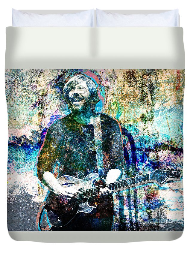 Rock N Roll Duvet Cover featuring the painting Trey Anastasio - Phish Original Painting Print by Ryan Rock Artist