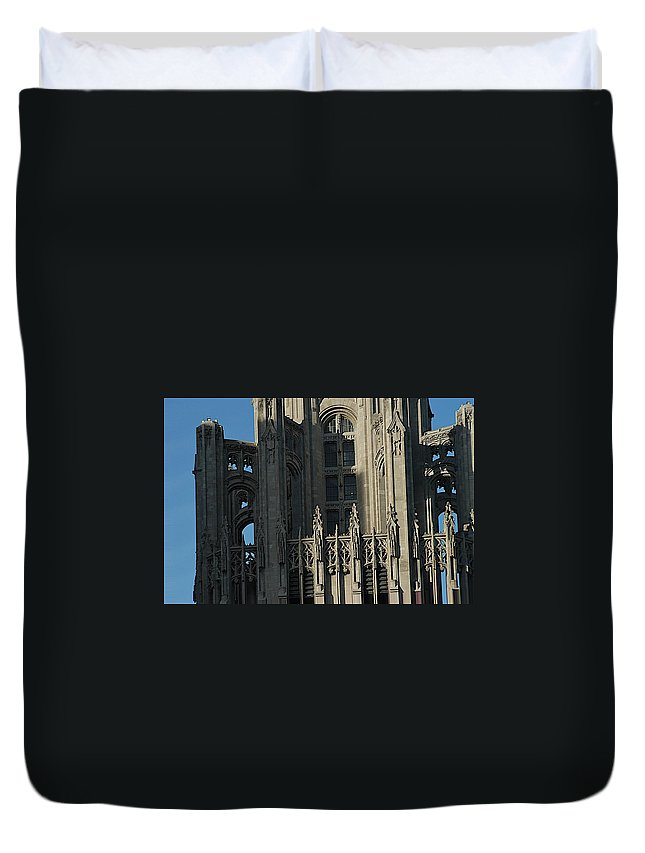 Chicago Duvet Cover featuring the photograph Tribune Tower by Joseph Yarbrough