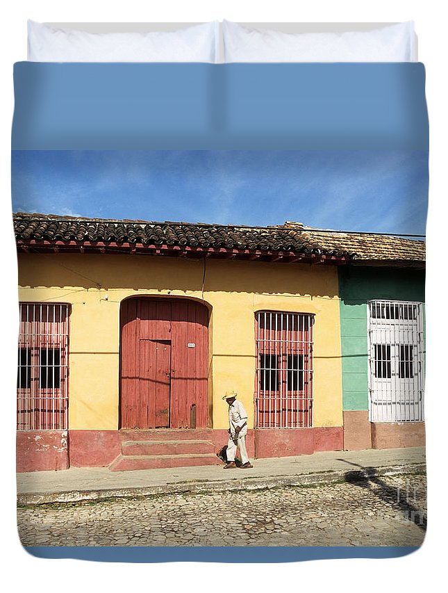 Cuba Duvet Cover featuring the photograph Trinidad Streets Cuba by James Brunker