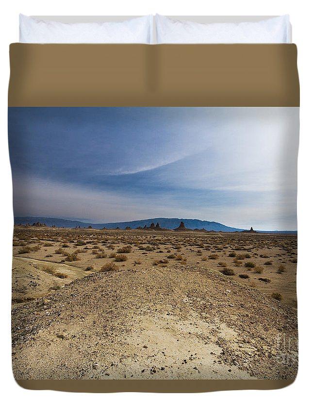 California Duvet Cover featuring the photograph Trona Pinnacles 7 by Dan Hartford