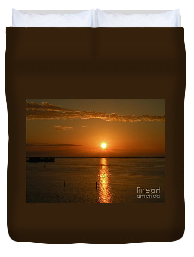 Sun Duvet Cover featuring the photograph Tropic Sun by Lora Duguay