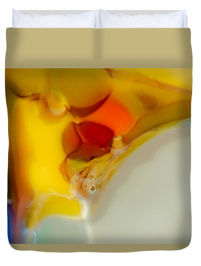 Glass Duvet Cover featuring the photograph Tropical Bird by Omaste Witkowski