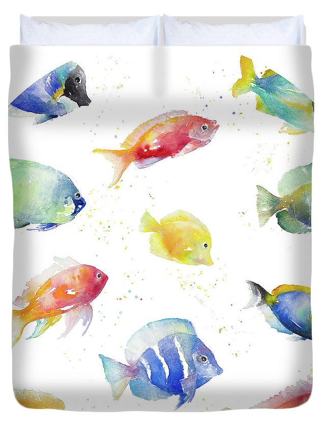 Tropical Fish Round Duvet Cover
