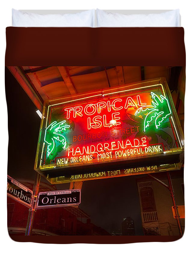 French Quarter Duvet Cover featuring the photograph Tropical Isle Nola Style by Tim Stanley