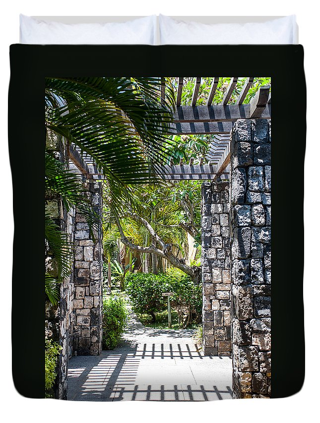 Mauritius Duvet Cover featuring the photograph Tropical Light by Jenny Rainbow