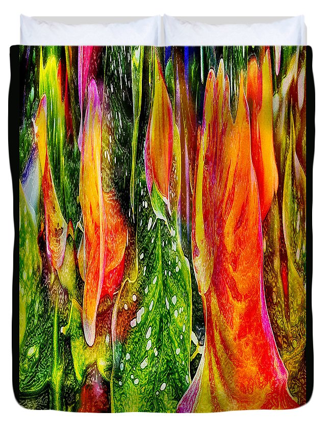 Roses Duvet Cover featuring the digital art Tropical Meltdown by Jeff McJunkin