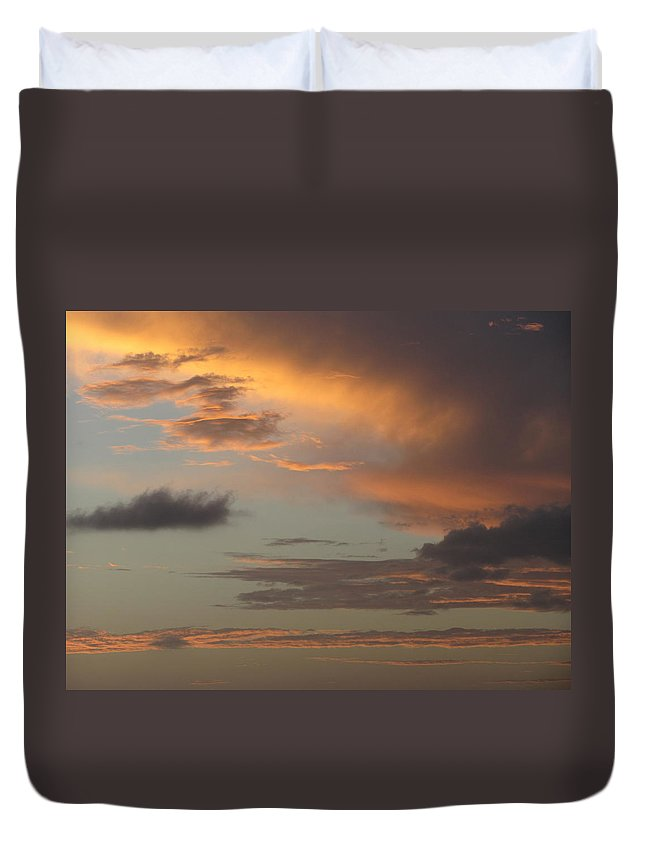 Puerto Rico Duvet Cover featuring the photograph Tropical Sunset Sky by Anita Burgermeister