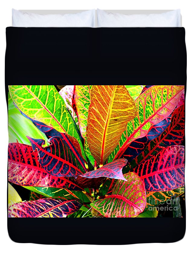 David Lawson Photography Duvet Cover featuring the photograph Tropicals Gone Wild Naturally by David Lawson