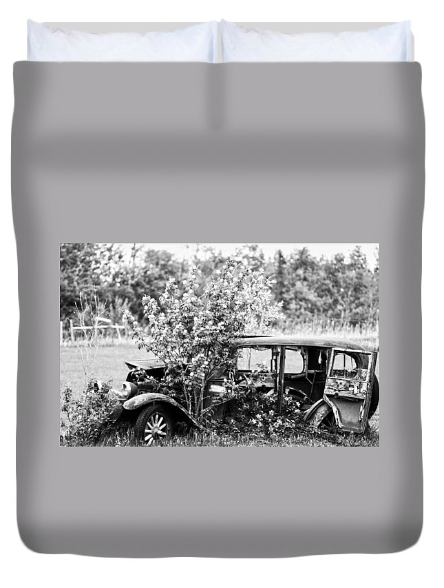 Old Duvet Cover featuring the photograph Troubled Travels by The Artist Project