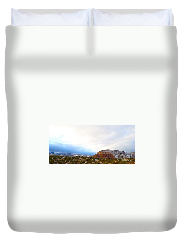 New Mexico Duvet Cover featuring the photograph True North by Wendy Girard