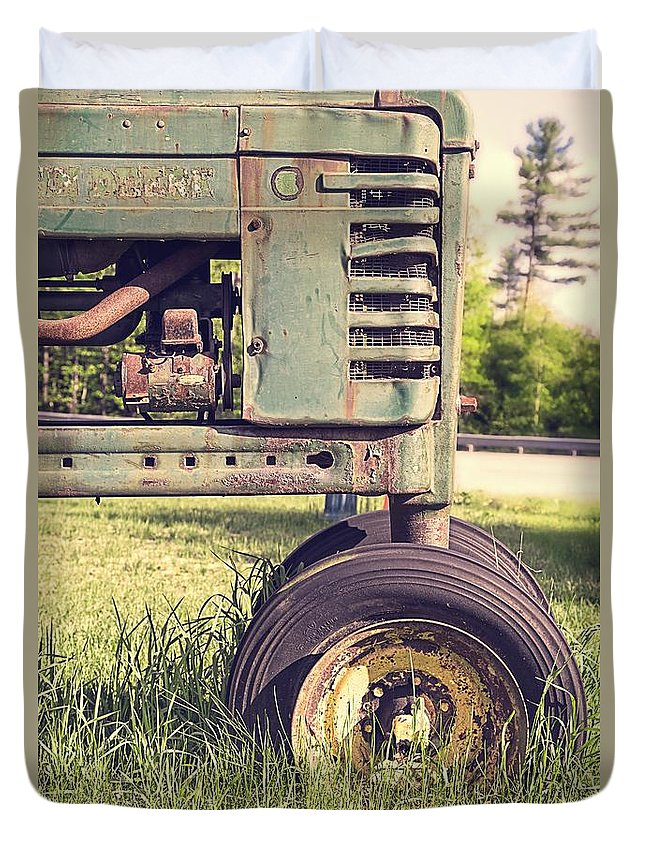 Quechee Duvet Cover featuring the photograph Trusty Old Workhorse by Edward Fielding