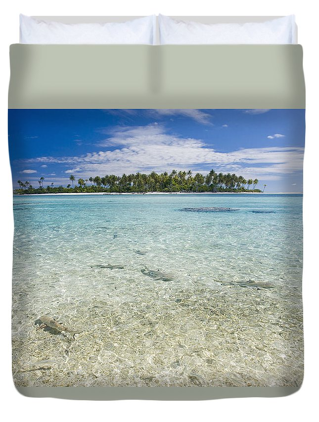 Adrenaline Duvet Cover featuring the photograph Tuamatu Islands by M Swiet Productions