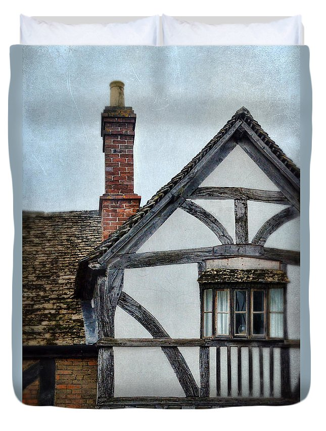House Duvet Cover featuring the photograph Tudor House by Jill Battaglia