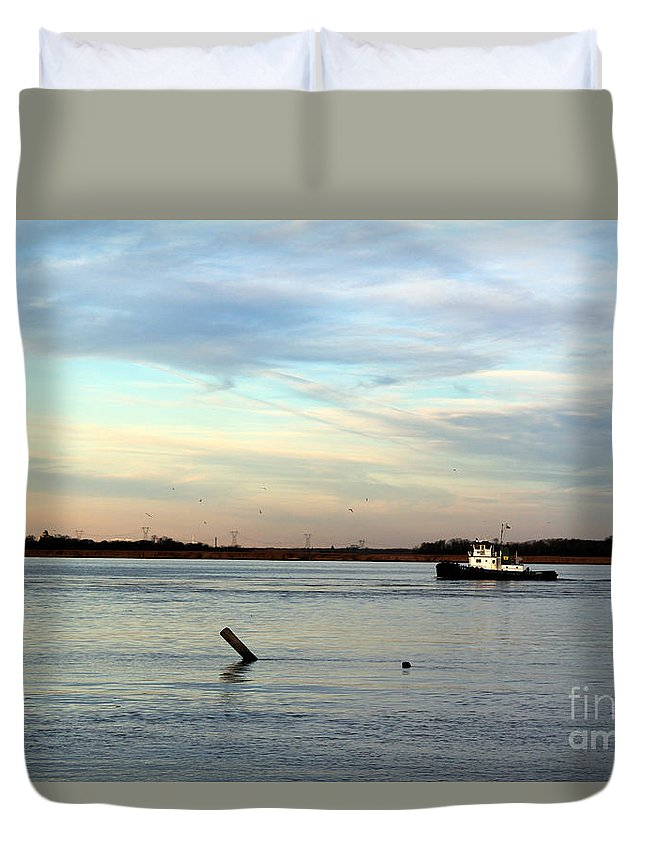 Tug Boat Duvet Cover featuring the photograph Tug Boat by David Jackson