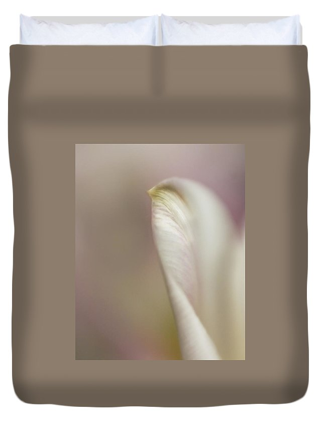 Abstract Duvet Cover featuring the photograph Tulip Abstract II by David and Carol Kelly