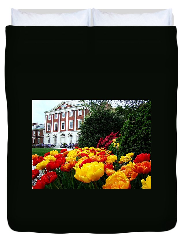 Philadelphia Duvet Cover featuring the photograph Tulip Love by Alice Gipson