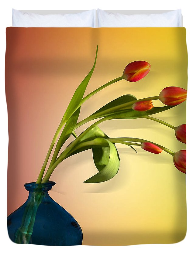 Tulips Duvet Cover featuring the photograph Tulips 5 by Mark Ashkenazi