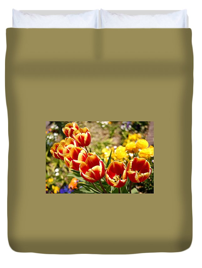 Tulip Duvet Cover featuring the photograph Tulips In Japan by Patz Turner