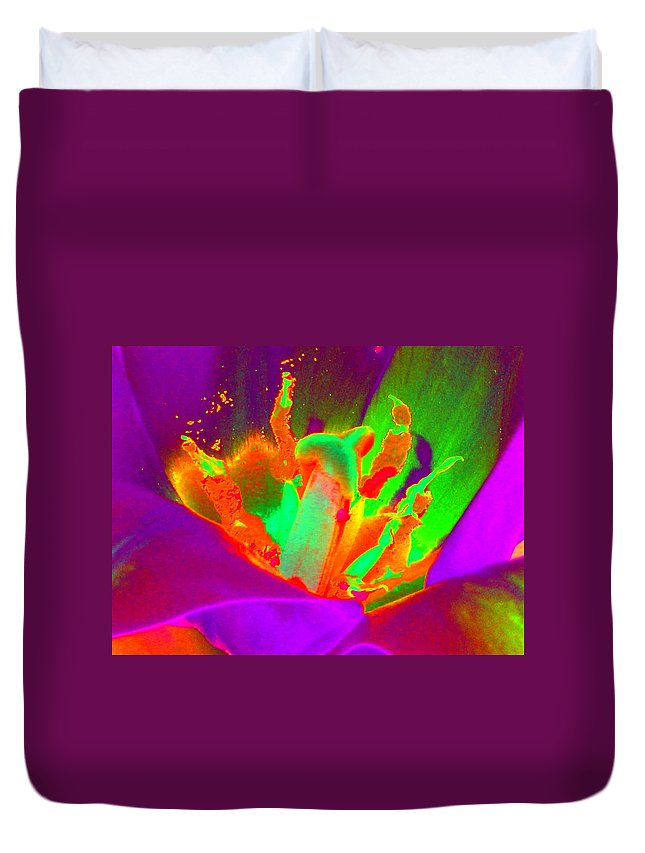 Tulip Duvet Cover featuring the photograph Tulips - Perfect Love - Photopower 2154 by Pamela Critchlow
