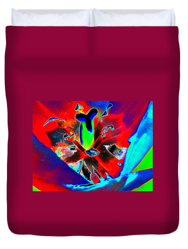 Tulip Duvet Cover featuring the photograph Tulips - Perfect Love - Photopower 2171 by Pamela Critchlow